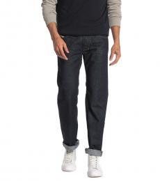 Diesel Navy Blue Larkee Straight Leg Trouser Jeans