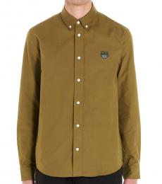 Brown Tiger Crest Shirt