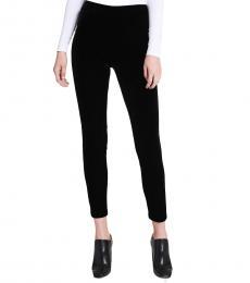 Calvin Klein Black Velvet Stretch Leggings