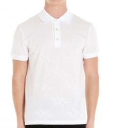 Billionaire White Logo Jaquard Polo