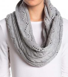 Michael Kors Grey Cable Infinity Scarf