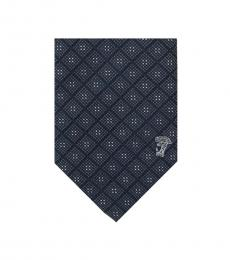 Versace Black Grey Printed Tie