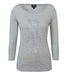 Armani Jeans Grey Classic Logo T-Shirt