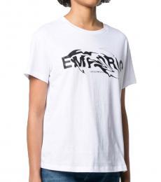 Emporio Armani White Swirling Logo T-Shirt