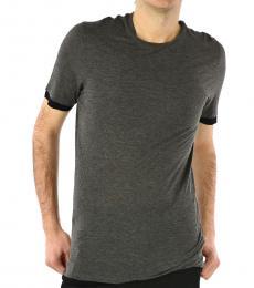 Dark Grey Trimming Crewneck T-Shirt