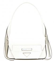 Prada White Manuelle Small Shoulder Bag