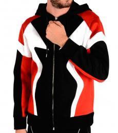 Neil Barrett Red Scuba Zipper Jacket