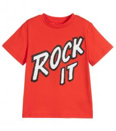 Stella McCartney Boys Red Rock It T-Shirt