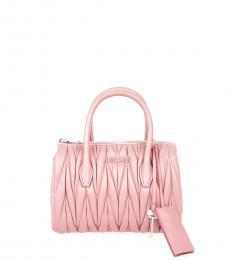 Miu Miu Pink Quilted Mini Satchel