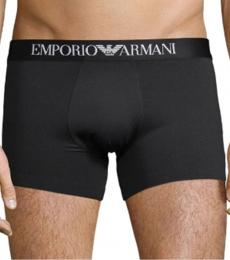 Emporio Armani Black Logo-Waist Boxer Briefs
