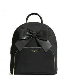 Karl Lagerfeld Black Kris Small Backpack