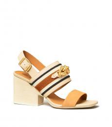 Tan Camel Jessa Block Heels