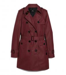 Coach Rosewood Solid Trench Coat