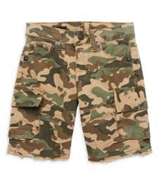 True Religion Little Boys Olive Camo Short End Shorts