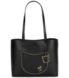 Karl Lagerfeld Black Kato Cat Patch Large Tote