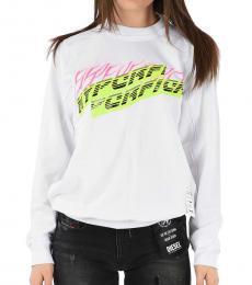 Diesel White Graphic Print Sweatshirt