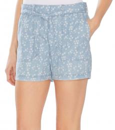 Vince Camuto Light Blue Floral High-Rise Shorts