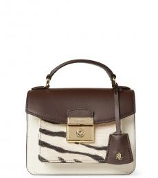 Ralph Lauren Chestnut/Natural Beckett Mini Satchel
