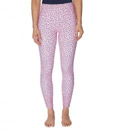 Betsey Johnson Bubble Gum-Polka Dot High-Rise Leggings
