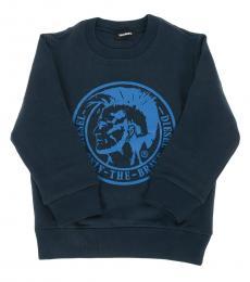 Diesel Little Boys Navy Graphic Sweatshirt