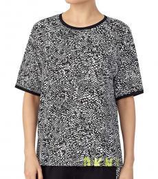 DKNY Black Abstract-Print Pajama T-Shirt