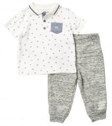 Calvin Klein 2 Piece Polo/Pants Set (Baby Boys)