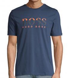 Hugo Boss Navy Blue Tiburt Logo T-Shirt