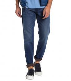Diesel Dark Blue Larkee Straight Leg Jeans