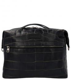 Alexander McQueen Black Logo Large Satchel