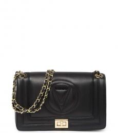 Mario Valentino Black Alice Logo Medium Shoulder Bag