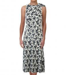 Ralph Lauren White Floral Print WorkWear Dress