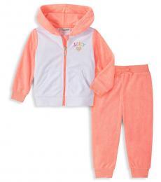 Juicy Couture 2 Piece Sweatshirt/Sweatpants Set (Girls)