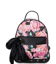 Juicy Couture Pink Black In Bloom Small Backpack