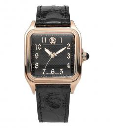Roberto Cavalli Black Square Logo Watch