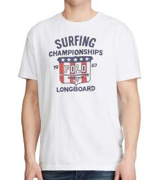 Ralph Lauren White Classic Fit Graphic T-Shirt