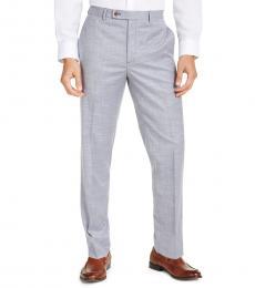 Ralph Lauren Blue Classic-Fit Sharkskin Dress Pants