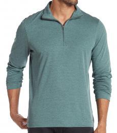 Michael Kors Green Interlock Zip Pullover