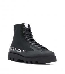 Givenchy Black Clapham Logo Boots
