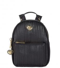 Betsey Johnson Black Quilted Small Backpack