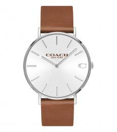 Coach Brown Logo Dial Watch