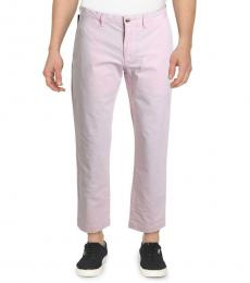 Ralph Lauren Pink Twill Straight Fit Mid-Rise Chinos