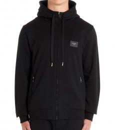 Dolce & Gabbana Black Logo Hoodie Jacket