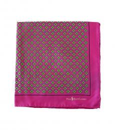 Ralph Lauren Pink Allover Pattern Pocket Sqaure