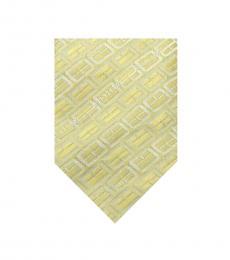 Burberry Lemon Yellow Silk Tie