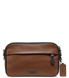 Coach Light Brown Graham Medium Crossbody Bag
