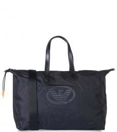 Emporio Armani Navy Blue Logo Large Duffle Bag
