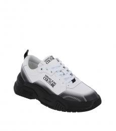 Versace Jeans White Black Fire Gradient Sneakers