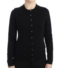 Black Button Front Cardigan