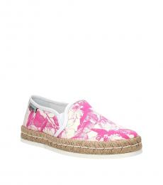 Hogan Pink Printed Loafers