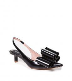 Black Bow Front Heels
